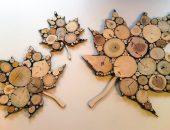 Кленовые листья из спилов веток