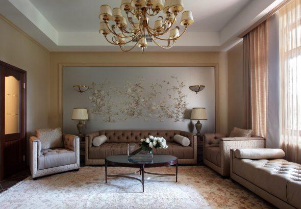 Акцентная стена с художественной росписью