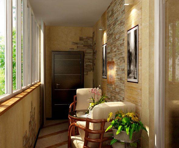 Уютные кресла на балконе