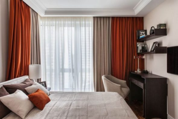 Варианты дизайна спальни 12 кв. м