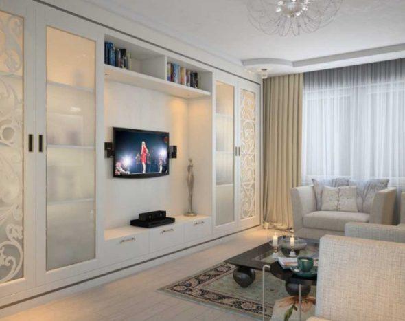 Фото: интерьер гостиной 18 кв. м