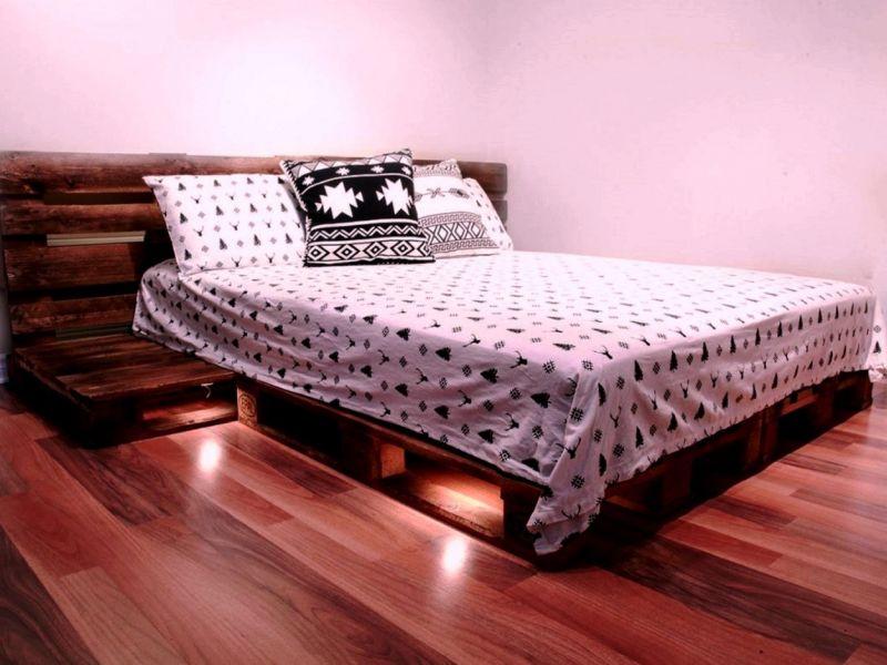 Кровать из поддонов своими руками: подборка фото