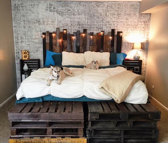 Кровать из поддонов своими руками