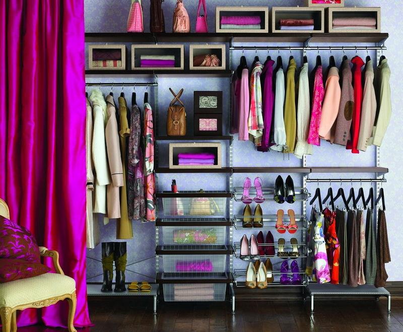 Система хранения вещей в гардеробной, сделанная своими руками: подборка фото