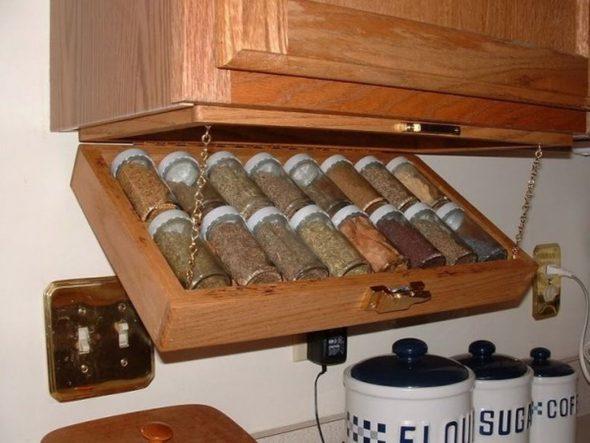 Приспособление для хранения банок с крупами и специями