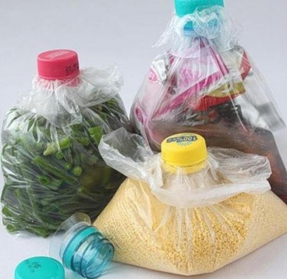 Оригинальное хранение продуктов в пакетах
