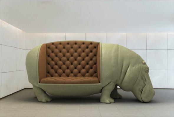 диван в форме бегемота