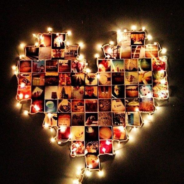 Коллаж из фотографий с LED-подсветкой