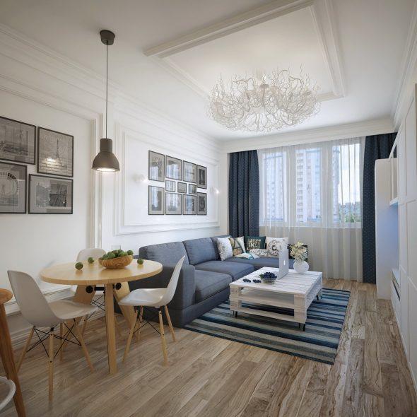 Скандинавский стиль в интерьере маленькой квартиры