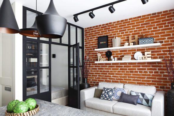 Лофт в интерьере маленькой квартиры