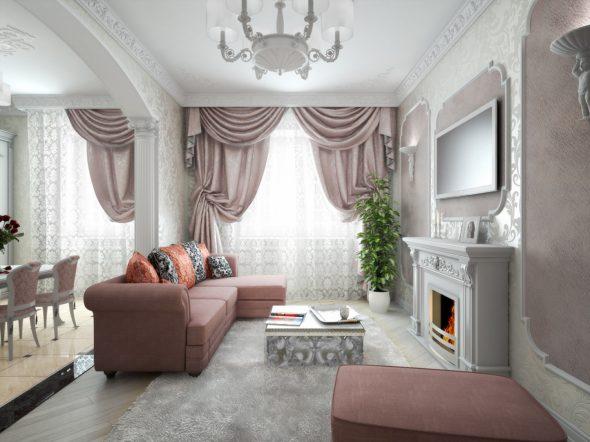 Ар-деко в интерьере маленькой квартиры