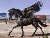 Скульптуры из металлолома — оригинальные поделки своими руками из старых механизмов
