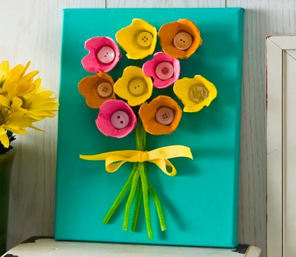 Поделка с цветами