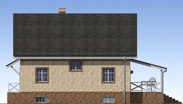 Визуализация бокового вида на частный дом