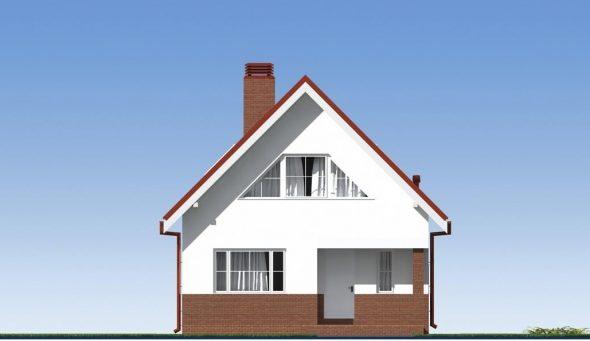 Визуализация одного из фасадов частного дома