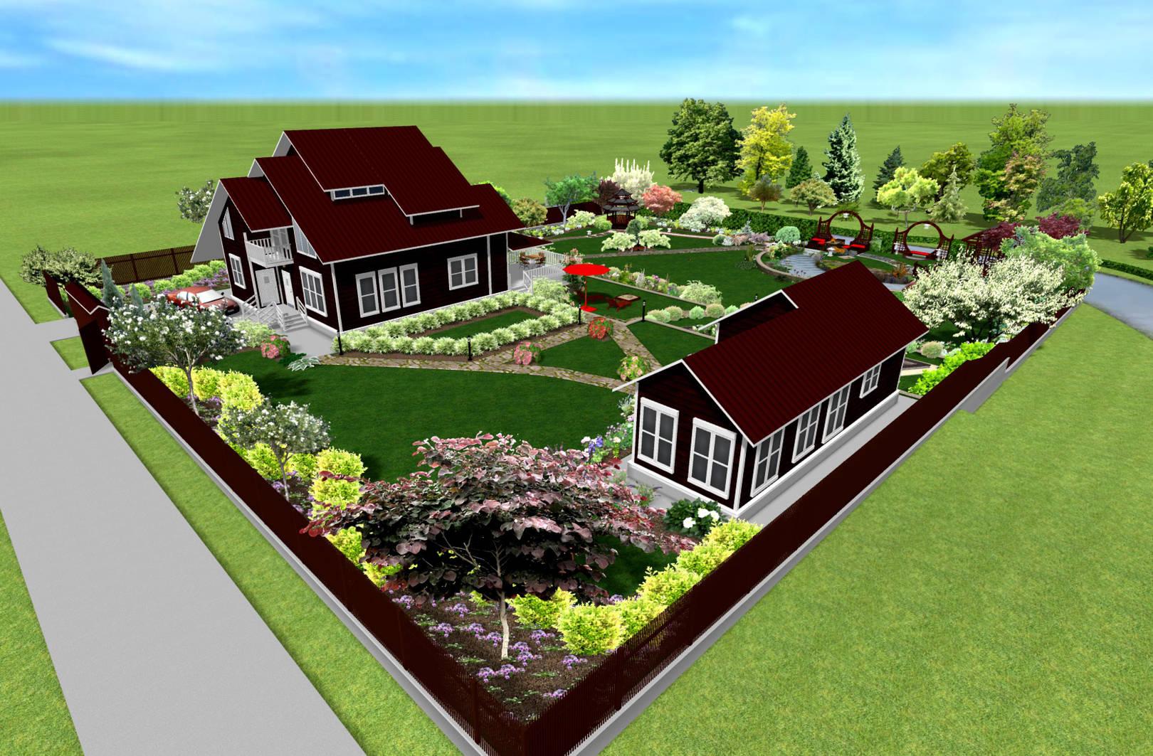 Загородный дом участок планировка картинки
