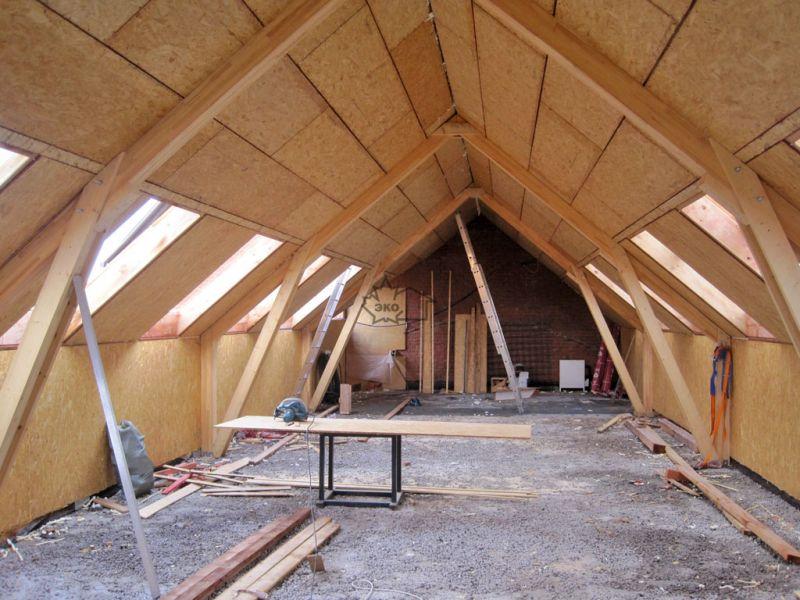 Утепление мансарды изнутри, если крыша уже покрыта: 3 способа