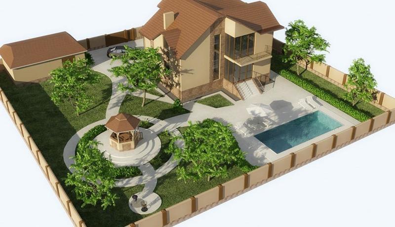 Планировка участка размером в 10 соток с домом: мудрый подход к делу