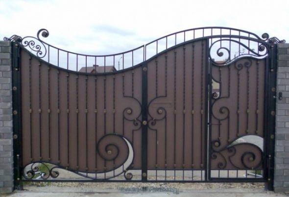 Оригинальные металлические ворота