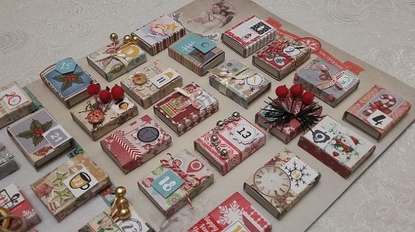 Календарь из спичечных коробков