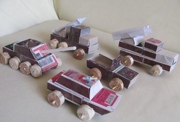 Военная техника из коробков