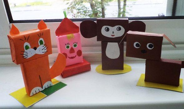 Животные из спичечных коробков