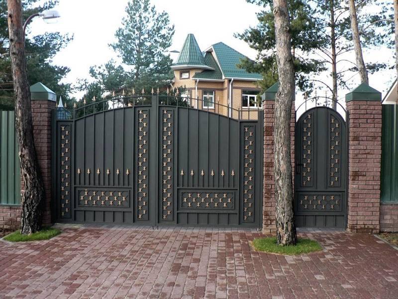 Ворота и калитки для частного дома: идеи на фото
