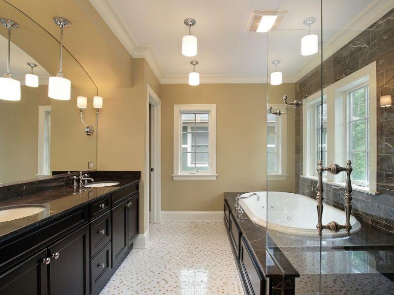 Освещение ванной комнаты: идеи на фото
