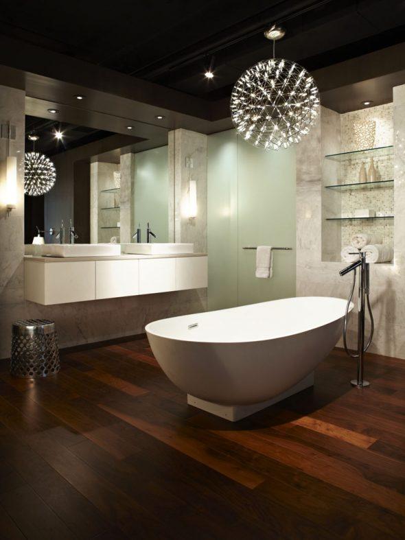 Оригинальный дизайн светильника для ванной