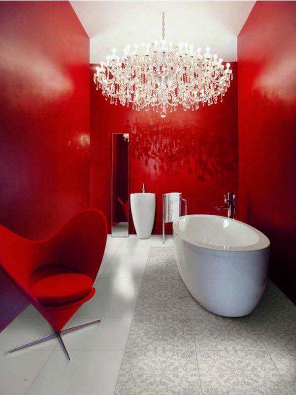 Роскошная люстра для ванной