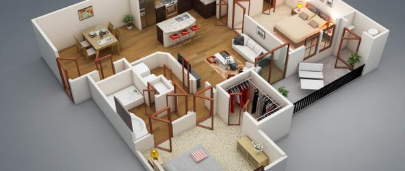 3d-планировка дома