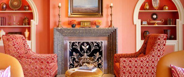 Марокканский стиль в интерьере с персиковыми оттенками