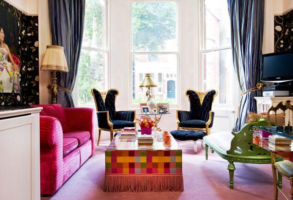 Разноцветный интерьер в стиле бохо