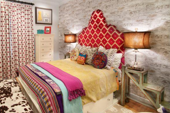 Бохо в интерьере спальни