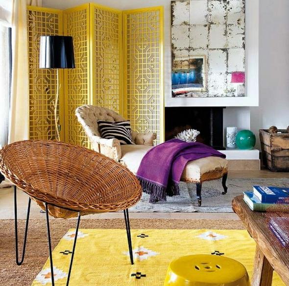 Жёлтый ковёр и ширма