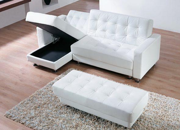 Угловой диван с ящиком для хранения