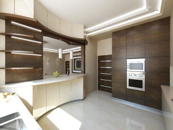 Венге в интерьере кухни