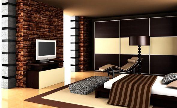 Цвет венге в спальне