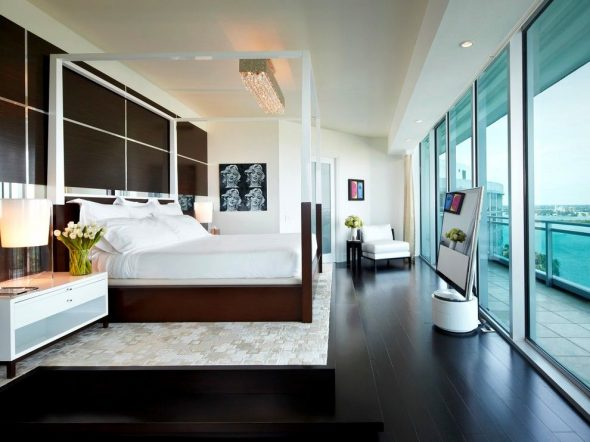 Оформление комнаты в цвете венге