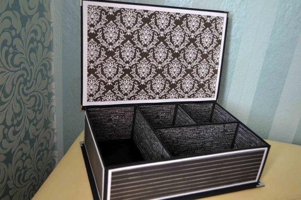 Большая шкатулка-ящик для аксессуаров