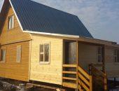 Деревянный дом с новой пристройкой