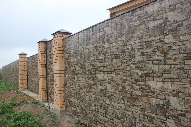 Как сделать забор из профнастила своими руками: этапы строительства