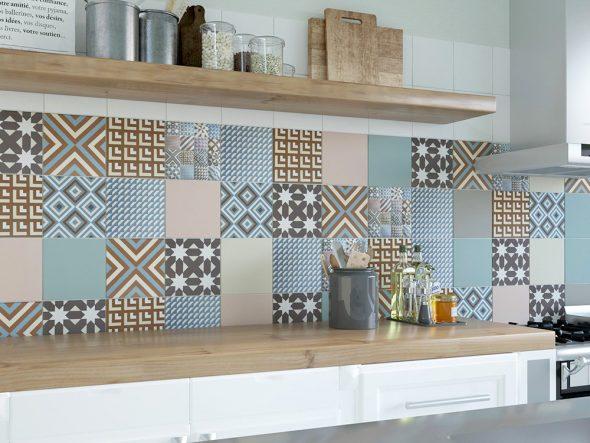 геометрическая плитка для кухни