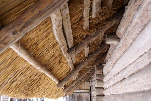 Стропила и жерди для соломенной крыши