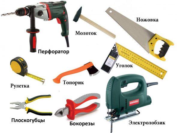 Инструменты для монтажа деревянной кровли