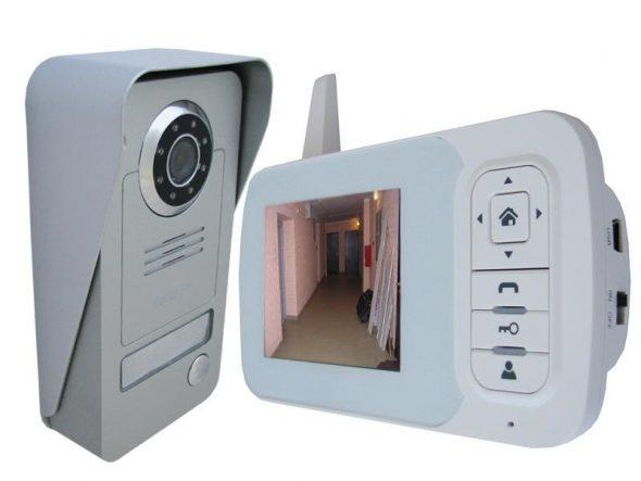 Комплект беспроводного видеодомофона