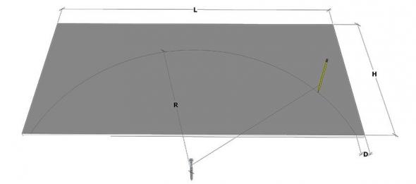 Разметка дуги на листе