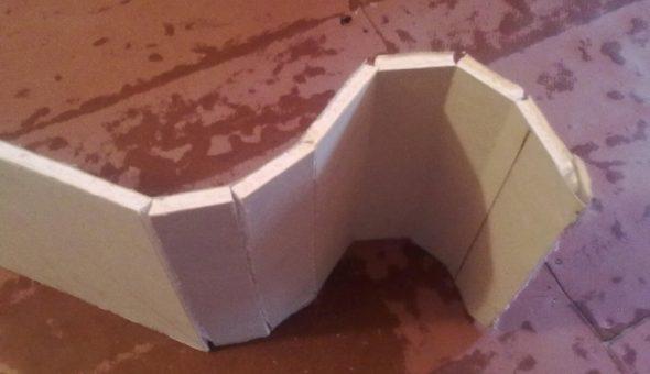 Подготовка полосы для нижней дуги «сухим» способом