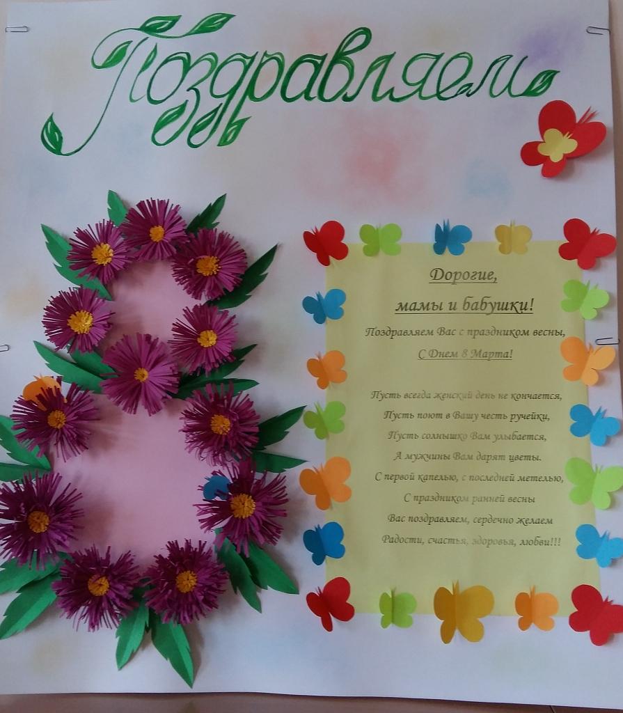 Открытка плакат 8 марта своими руками, февраля открытки