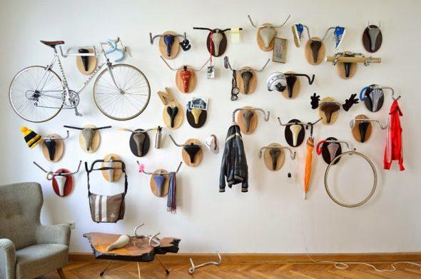 Вешалки из велосипедных рулей